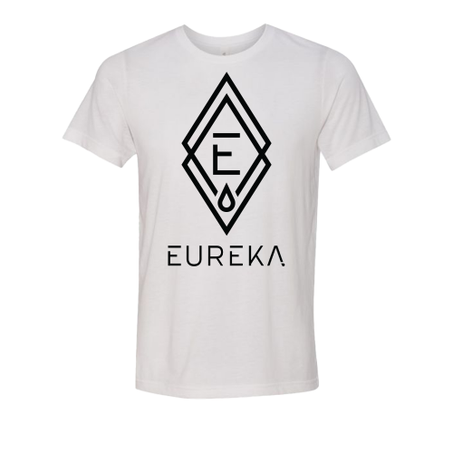White T-Shirt with Eureka Logo